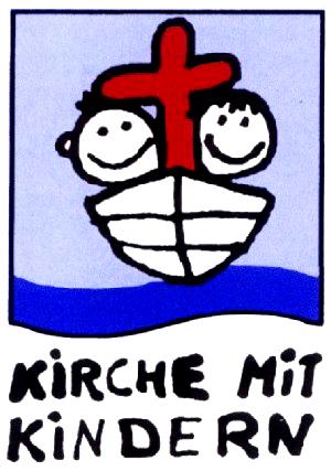 KiGo_Logo - Kinder mit Kreuz im Boot